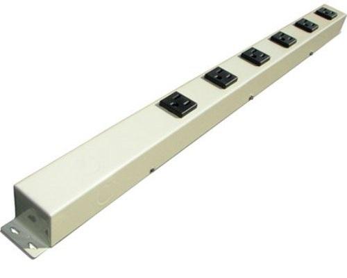 24 inch - 6 Outlet Hardwired Power Strip - Beige 0