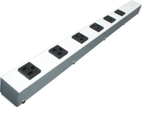 24 inch - 6 Outlet Hardwired Power Strip - White 0