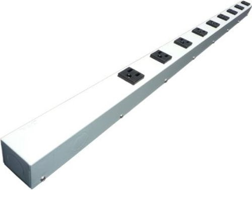 36 inch - 9 Outlet Hardwired Power Strip - White 0