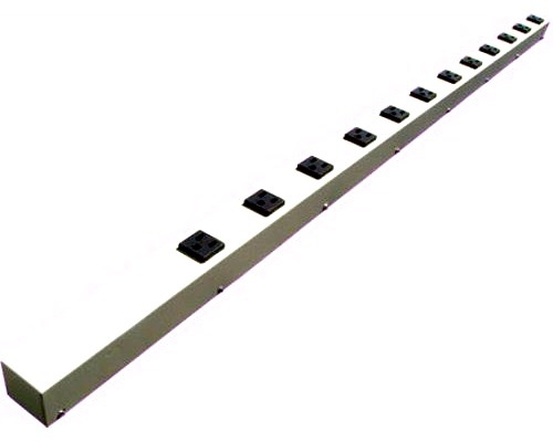 48 inch - 12 Outlet Hardwired Metal Power Strip - Beige 0