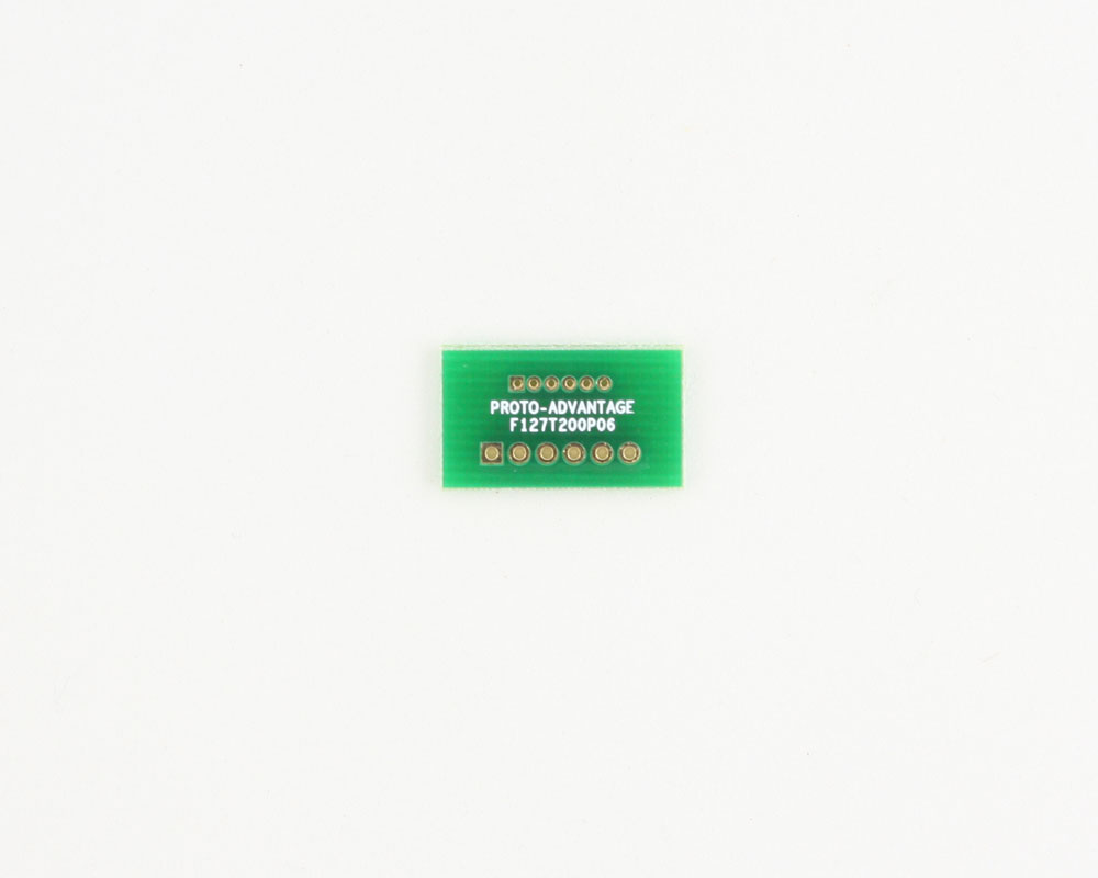 Pitch Changer 1.27 mm to 2.00 mm conversion -  6 pin 0