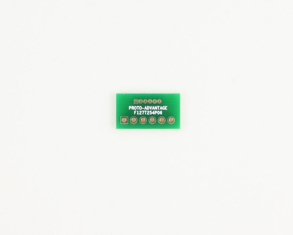 Pitch Changer 1.27 mm to 2.54 mm conversion -  6 pin 0