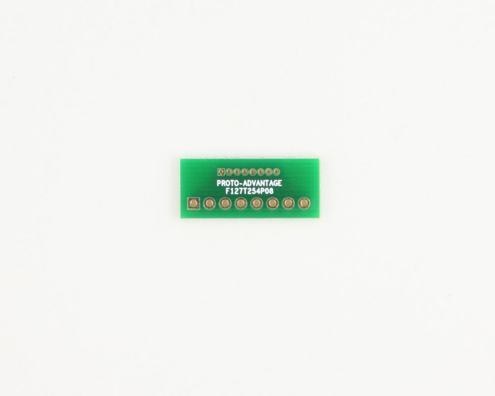 Pitch Changer 1.27 mm to 2.54 mm conversion -  8 pin 0
