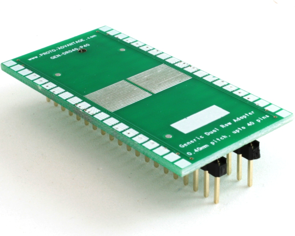 Generic Dual Row 0.40mm Pitch 40-Pin to DIP-40 Adapter 0