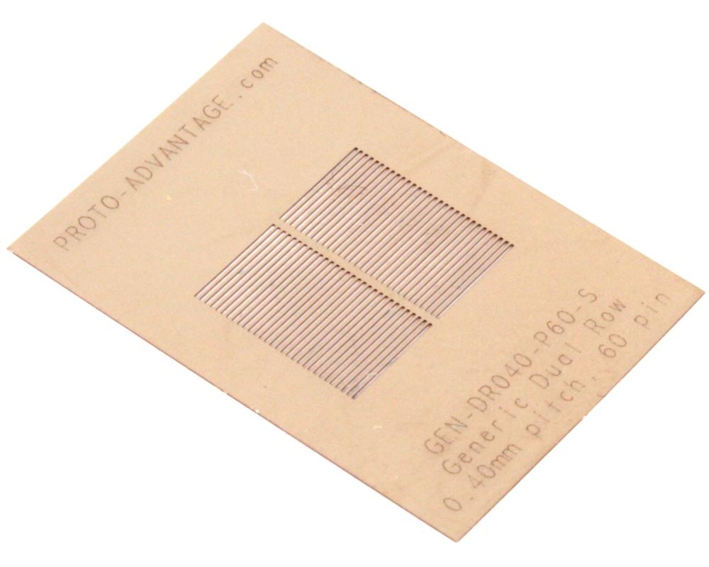 Generic Dual Row 0.4mm Pitch 60-Pin Stencil 0