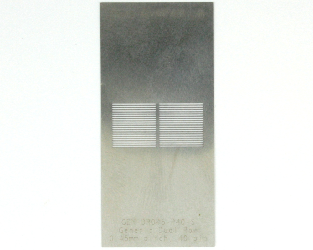 Generic Dual Row 0.45mm Pitch 40-Pin Stencil 0