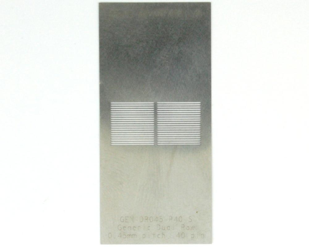 Generic Dual Row 0.45mm Pitch 40-Pin Stencil 0