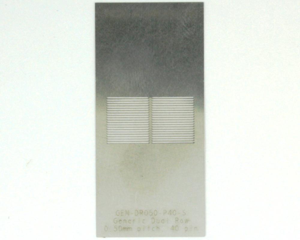 Generic Dual Row 0.5mm Pitch 40-Pin Stencil 0