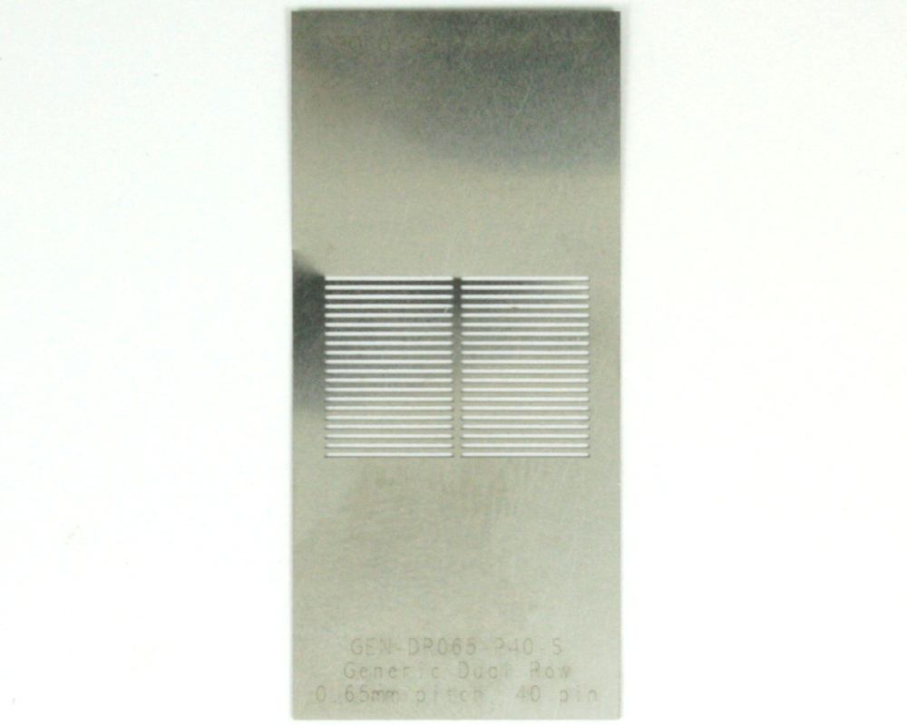 Generic Dual Row 0.65mm Pitch 40-Pin Stencil 0