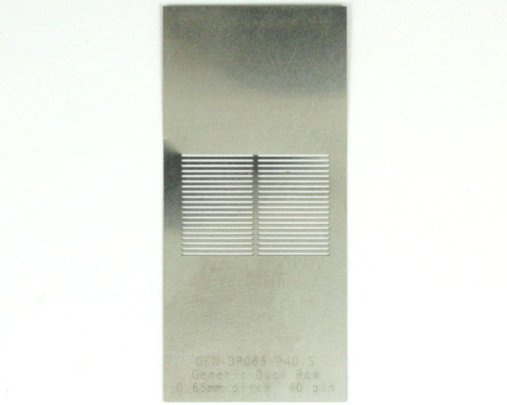Generic Dual Row 0.65mm Pitch 40-Pin Stencil 0