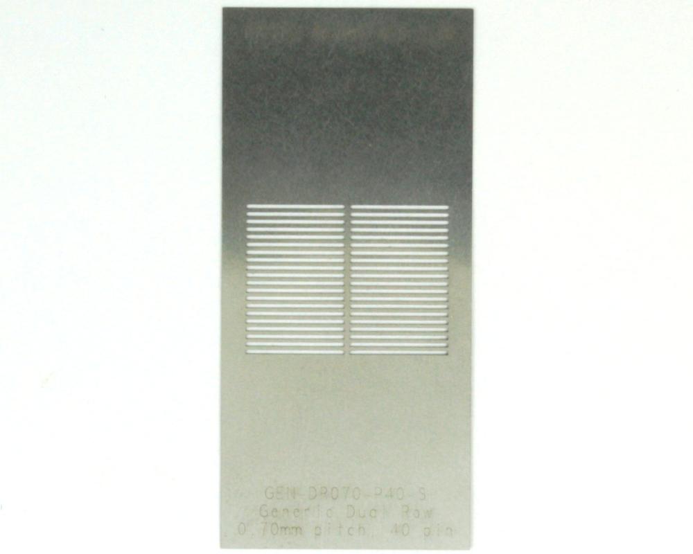 Generic Dual Row 0.7mm Pitch 40-Pin Stencil 0