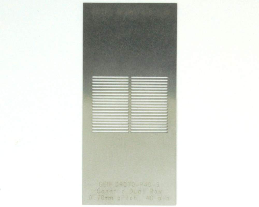 Generic Dual Row 0.7mm Pitch 40-Pin Stencil 0