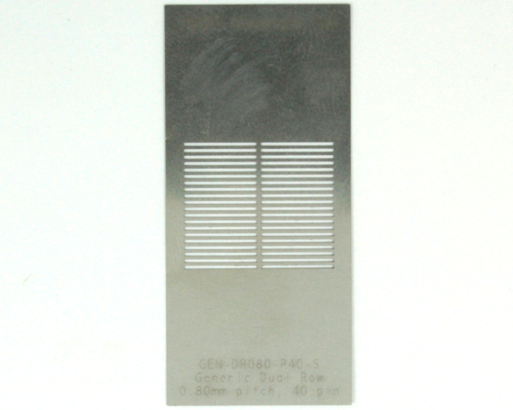 Generic Dual Row 0.8mm Pitch 40-Pin Stencil 0