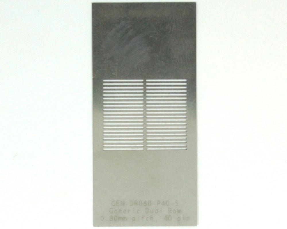 Generic Dual Row 0.8mm Pitch 40-Pin Stencil 0
