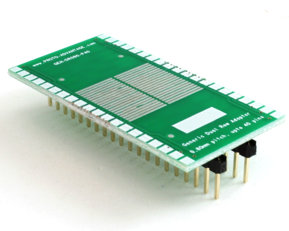 Generic Dual Row 0.80mm Pitch 40-Pin to DIP-40 Adapter 0