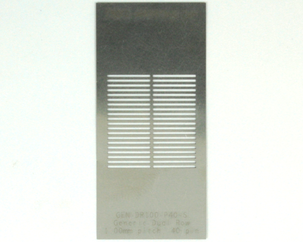 Generic Dual Row 1.0mm Pitch 40-Pin Stencil 0