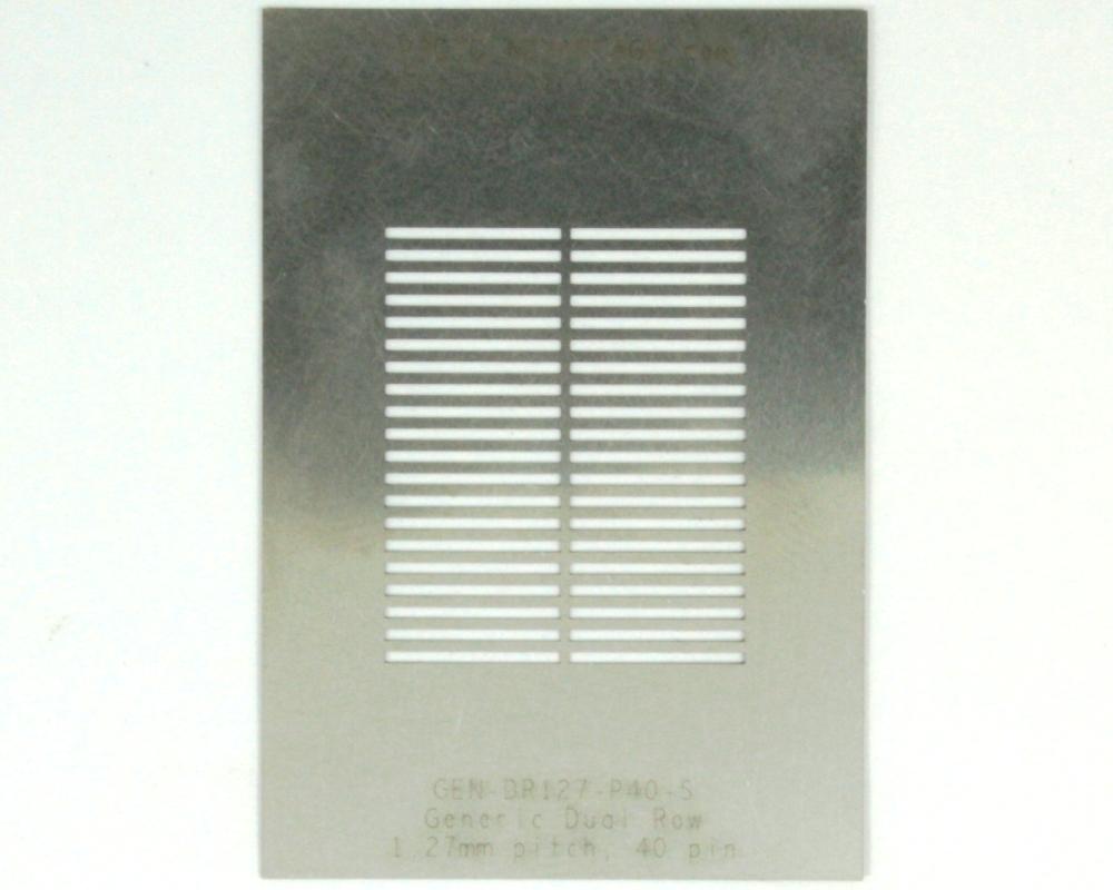 Generic Dual Row 1.27mm Pitch 40-Pin Stencil 0