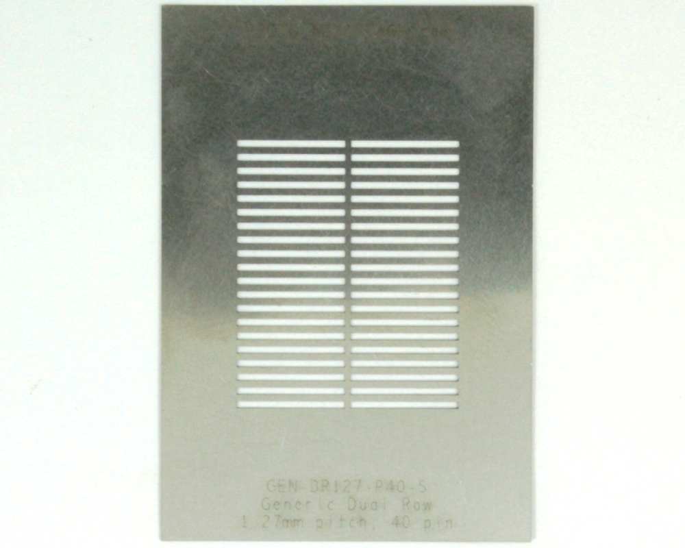 Generic Dual Row 1.27mm Pitch 40-Pin Stencil 0