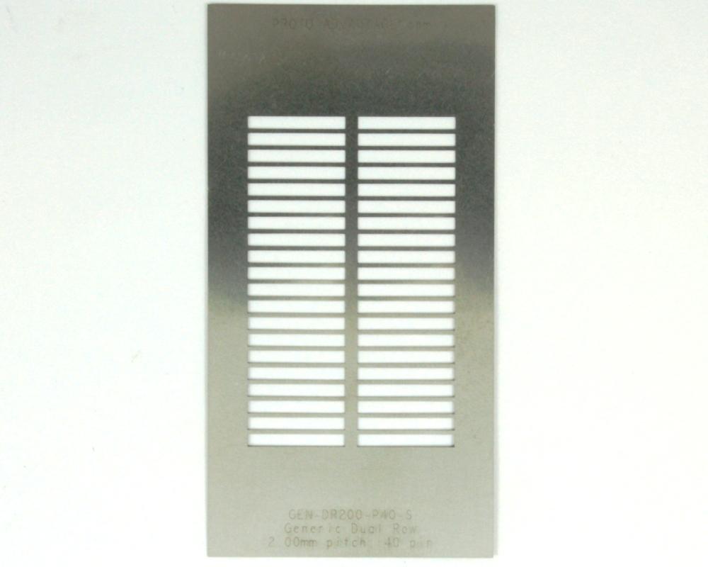 Generic Dual Row 2.0mm Pitch 40-Pin Stencil 0