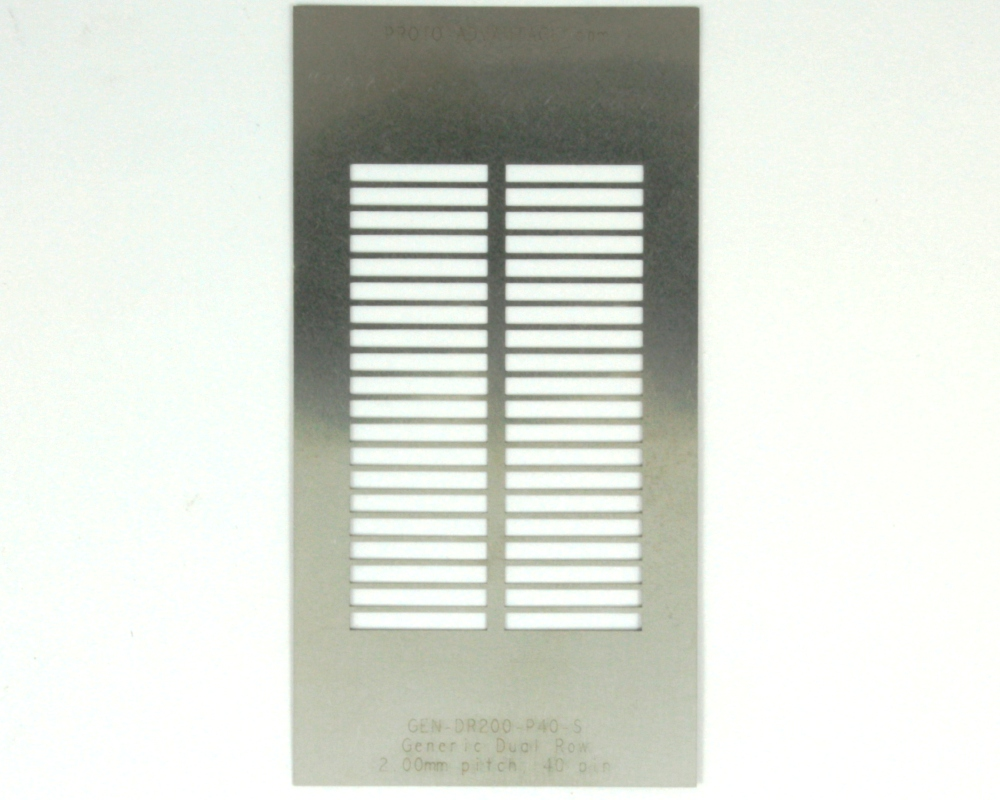 Generic Dual Row 2.0mm Pitch 40-Pin Stencil 0