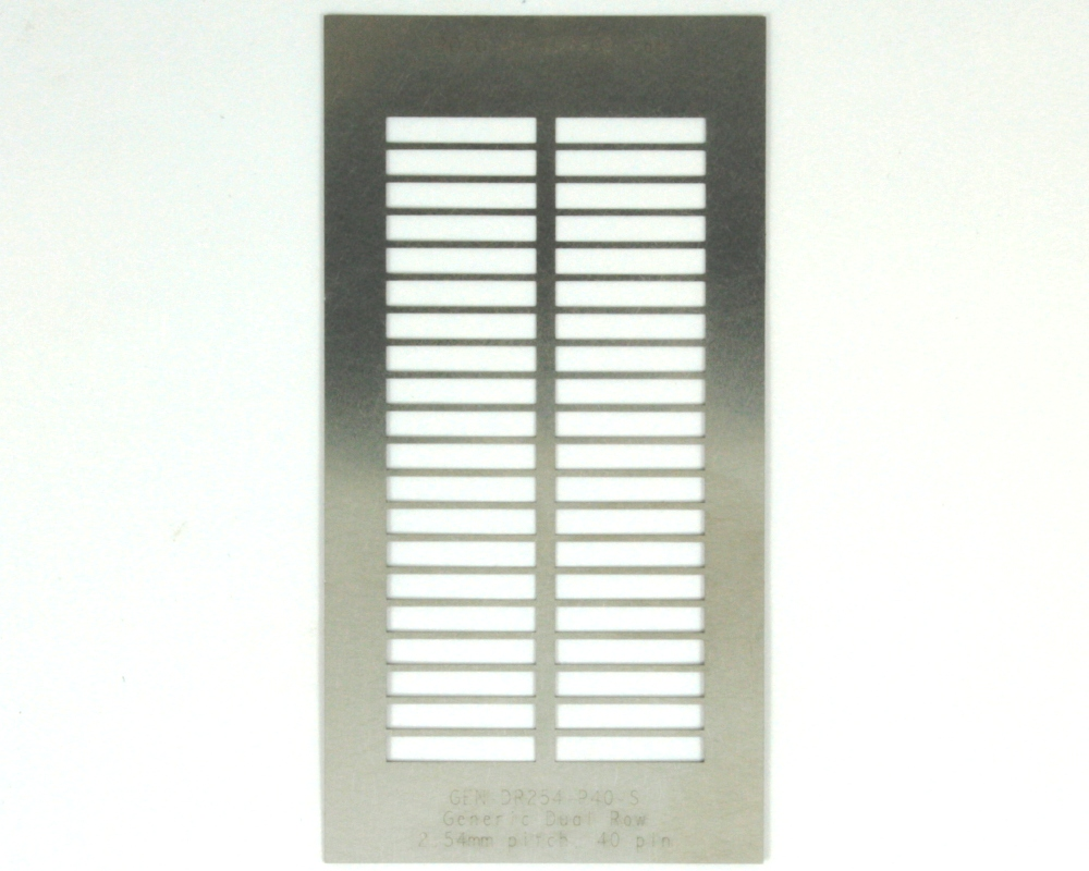 Generic Dual Row 2.54mm Pitch 40-Pin Stencil 0