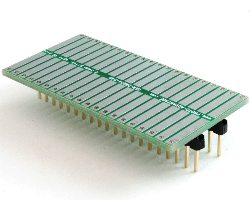 Generic Dual Row 2.54mm Pitch 40-Pin to DIP-40 Adapter 0