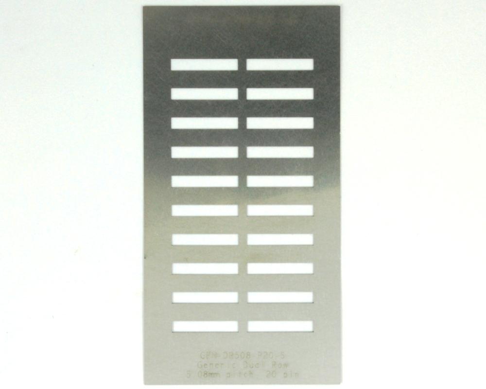 Generic Dual Row 5.08mm Pitch 20-Pin Stencil 0