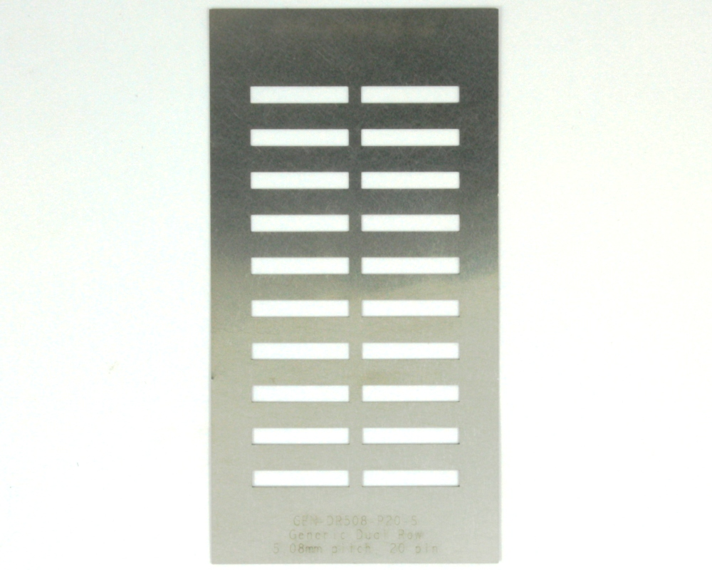 Generic Dual Row 5.08mm Pitch 20-Pin Stencil 0