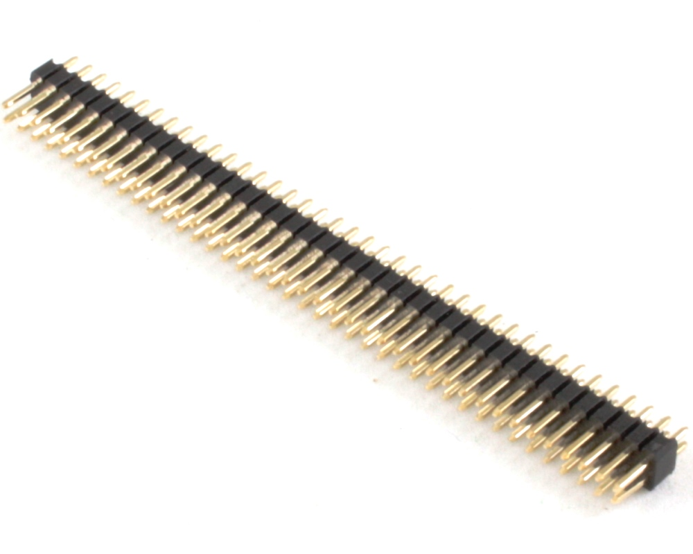 1.27 mm 80 pin Vertical Male Header Through Hole Gold 0