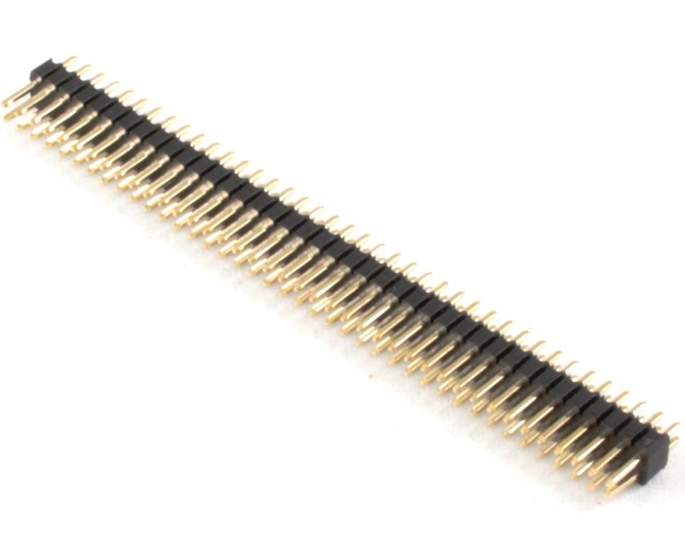 1.27 mm 80 pin Vertical Male Header Through Hole Gold 0