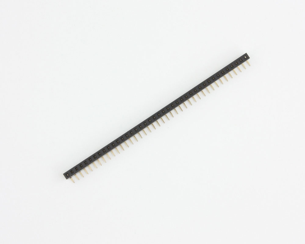 2.00 mm 40 pin Right Angle Female Header Through Hole Gold 2