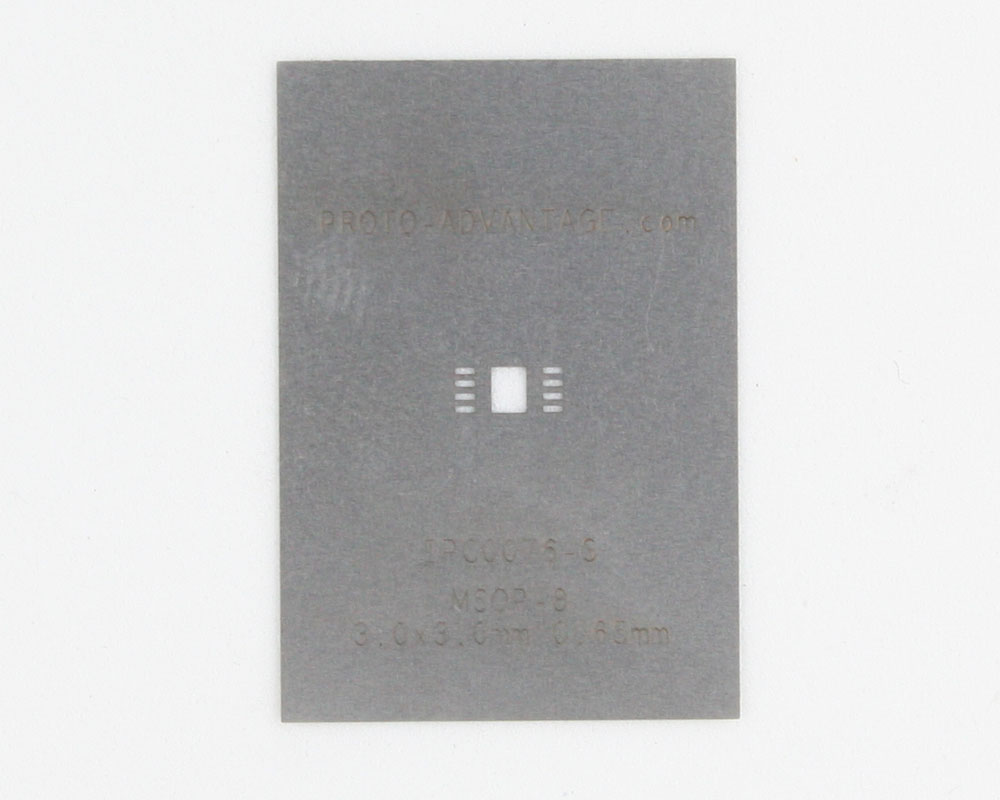 MSOP-8 (0.65 mm pitch, 3.0 x 3.0 mm body) Steel Stencil 0