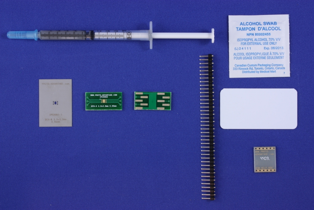 DFN-6 (0.95 mm pitch, 3.0 x 3.0 mm body) PCB and Stencil Kit 0