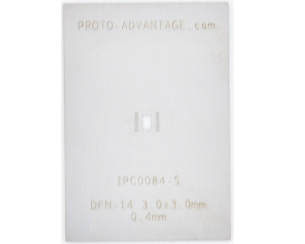 DFN-14 (0.4 mm pitch, 3.0 x 3.0 mm body) Stainless Steel Stencil 0