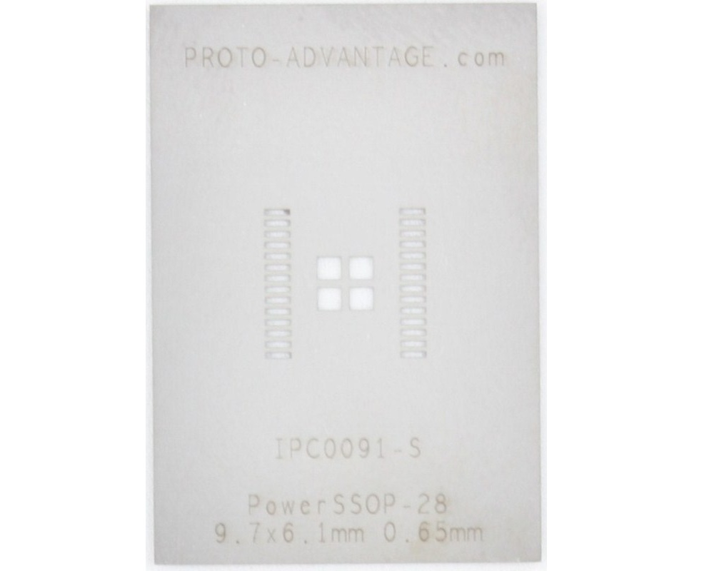 PowerSSOP-28 (0.65 mm pitch, 9.7 x 6.1 mm body) Stencil 0