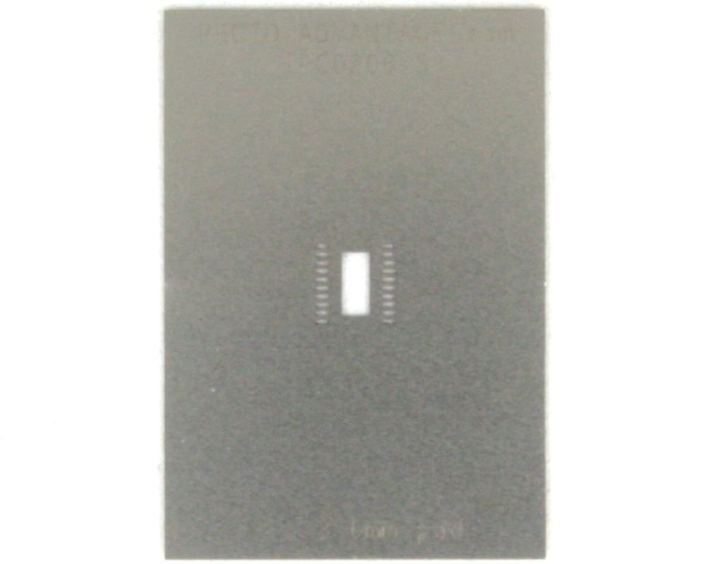 DFN-20 (0.5 mm pitch, 5 x 4 mm body) Stainless Steel Stencil 0