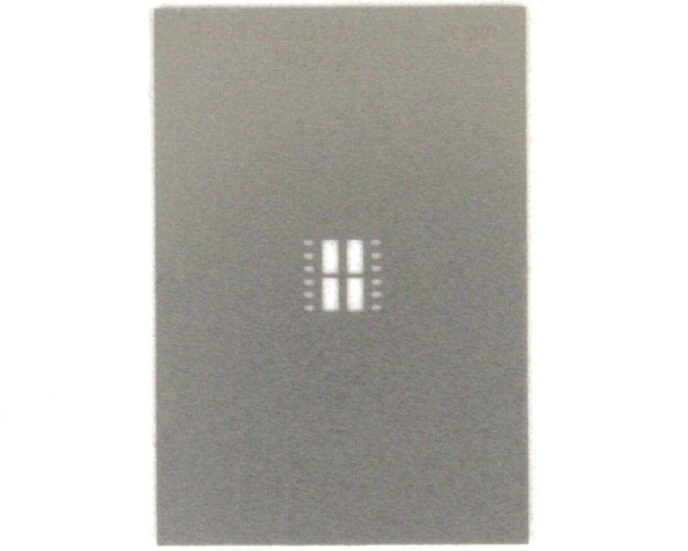 DFN-12 (0.8 mm pitch, 5 x 4.5 mm body, split pad (4)) Stainless Stencil 0