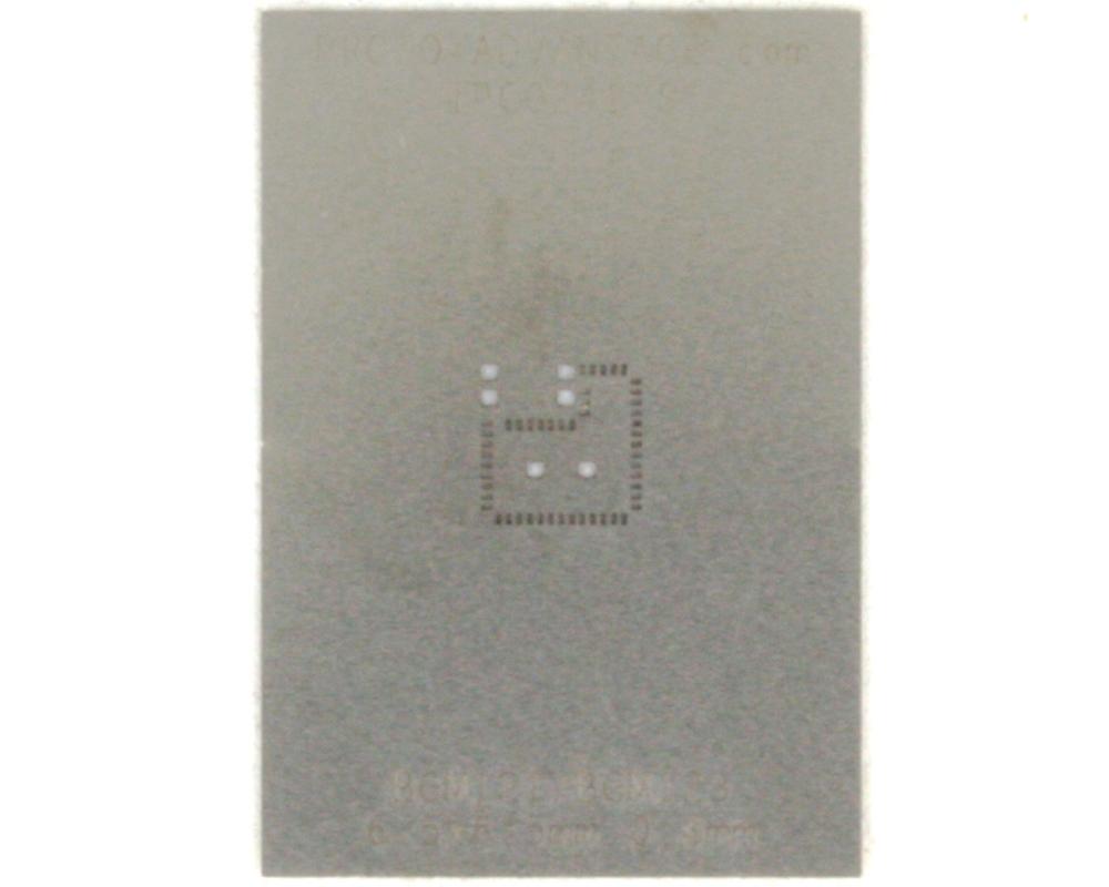 BGM121/BGM123 (0.4 mm pitch, 6.5 x 6.5 mm body) Stainless Steel Stencil 0