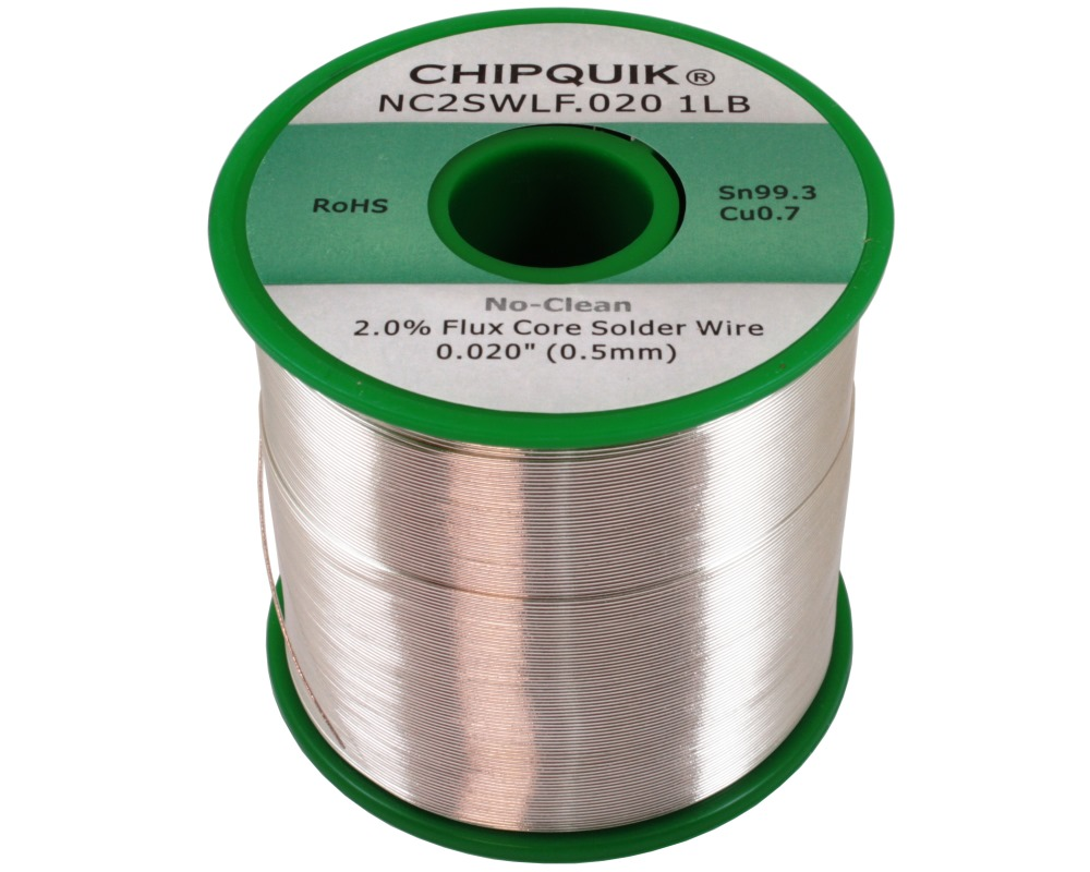 LF Solder Wire 99.3/0.7 Tin/Copper No-Clean .020 1lb 0