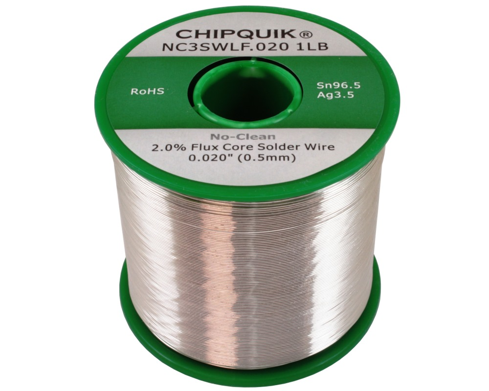 LF Solder Wire 96.5/3.5 Tin/Silver No-Clean .020 1lb 0