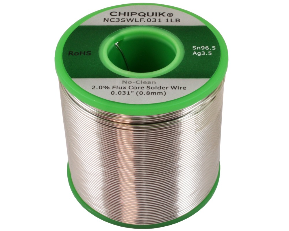 LF Solder Wire 96.5/3.5 Tin/Silver No-Clean .031 1lb 0