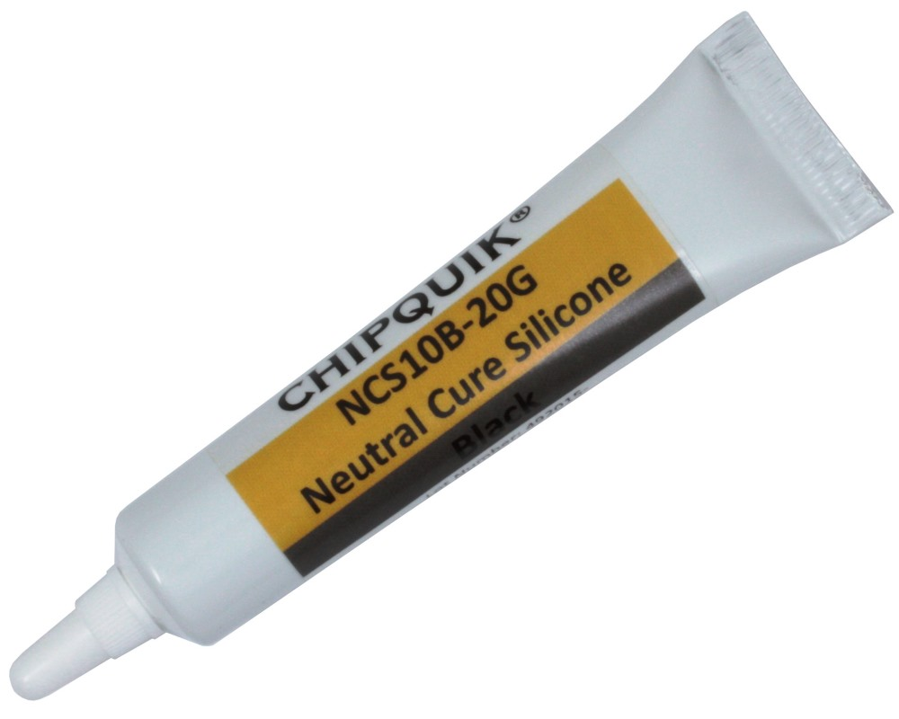 Neutral Cure Silicone Adhesive Sealant (Black) 20g Squeeze Tube 0