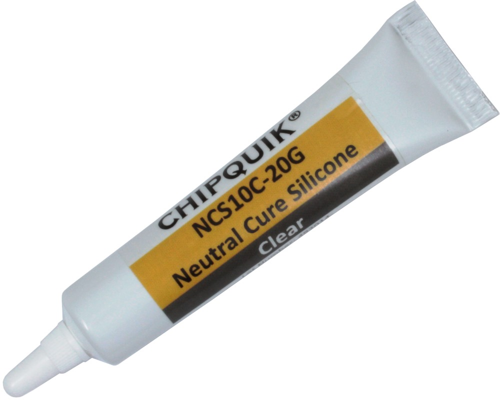 Neutral Cure Silicone Adhesive Sealant (Clear) 20g Squeeze Tube 0