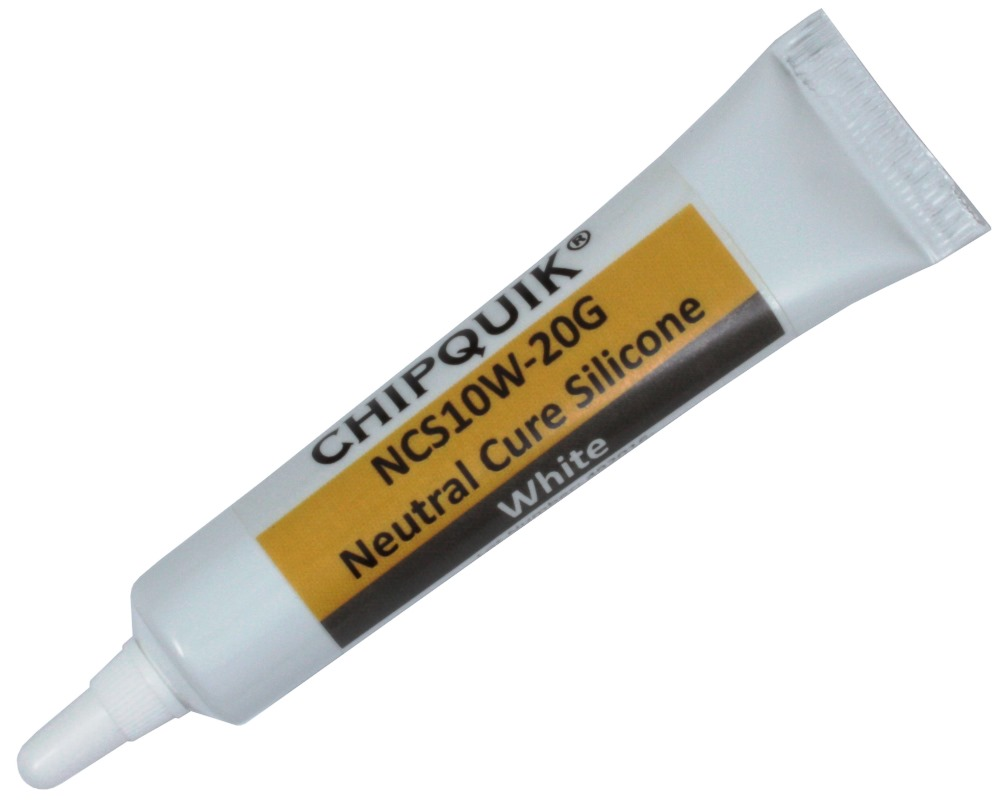 Neutral Cure Silicone Adhesive Sealant (White) 20g Squeeze Tube 0
