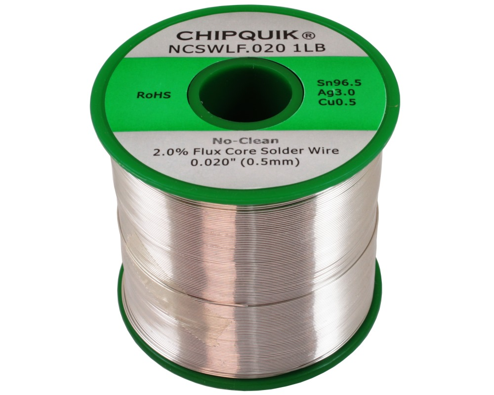 LF Solder Wire 96.5/3/0.5 Tin/Silver/Copper No-Clean .020 1lb 0