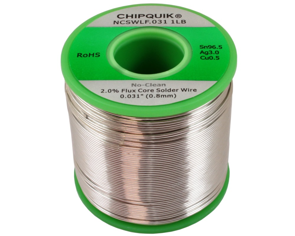 LF Solder Wire 96.5/3/0.5 Tin/Silver/Copper No-Clean .031 1lb 0