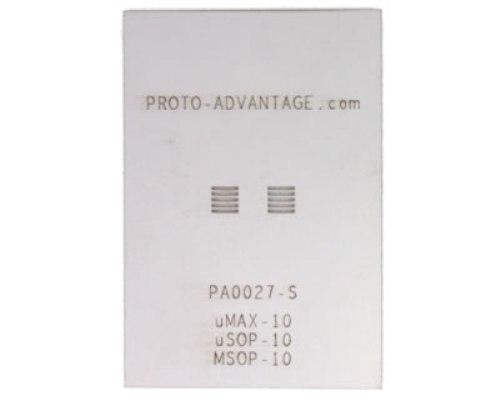 uMAX-10/uSOP-10/MSOP-10 (0.5 mm pitch) Stainless Steel Stencil 0