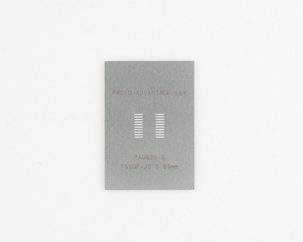 TSSOP-20 (0.65 mm pitch) Stainless Steel Stencil 0
