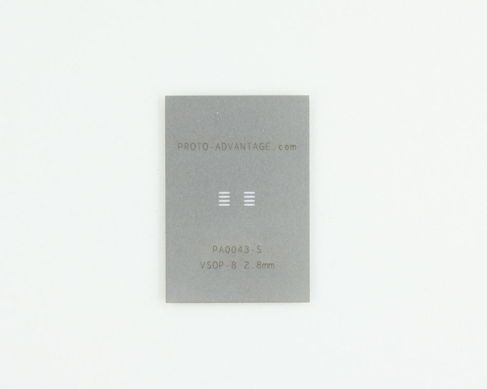 VSOP-8 (0.65 mm pitch, 2.8 mm body) Stainless Steel Stencil 0