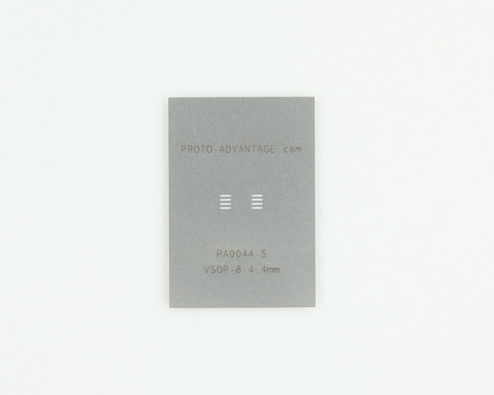 VSOP-8 (0.65 mm pitch, 4.4 mm body) Stainless Steel Stencil 0